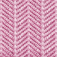 Herringbone Stitch How to knit. Worked in repeated rows of knit and purl. #howtoknit