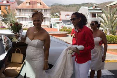 arrivée de la mariée mariage mairie de pointe noire guadeloupe