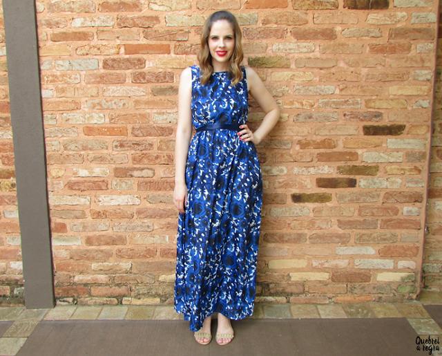 Look do dia: Vestido longo com estampa floral