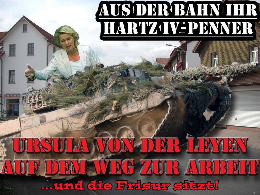 Lustige politische Spaßbilder Verteidigungsministerin Ursula von der Leyen