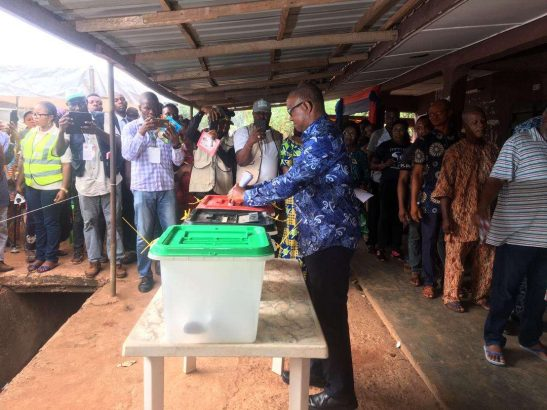 Peter Obi votes with his wife, says the process still clumsy