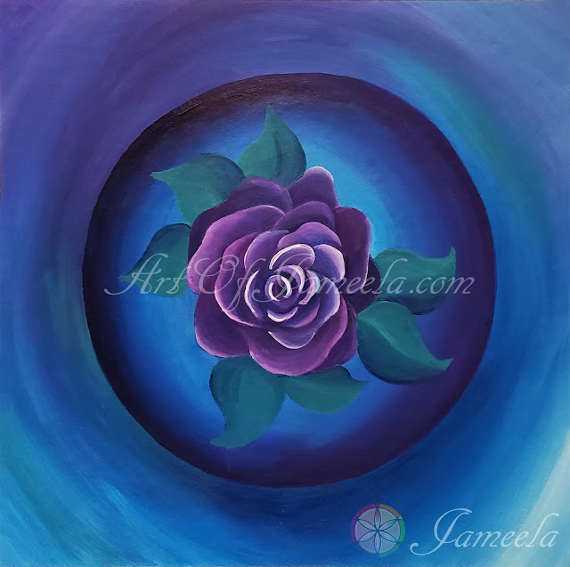 Magical Rose Painting by Jameela
