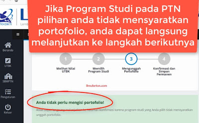 unggah portofolio SBMPTN
