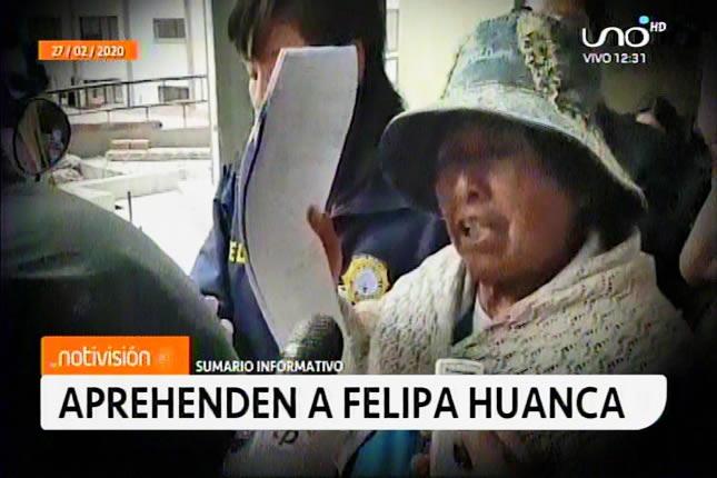 Policía aprehende a Felipa Huanca implicada en el desfalco al ex Fondo Indígena