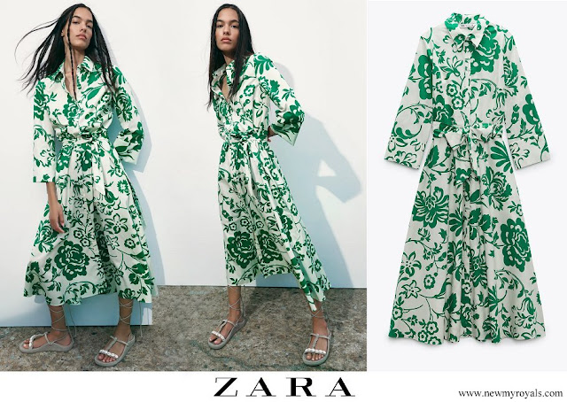 Princess Sofia wore Zara printed poplin dress
