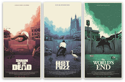 The Cornetto Trilogy Movie Poster Screen Print Series by Mark Bell x Vice Press
