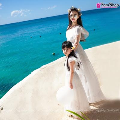 Váy maxi mẹ và bé gái M500