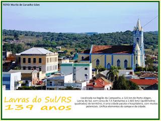 CONTEÚDO ESPECIAL: Alguns cards com informações de Lavras do Sul