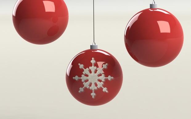 detalle copo de nieve en bola de navidad con solidworks