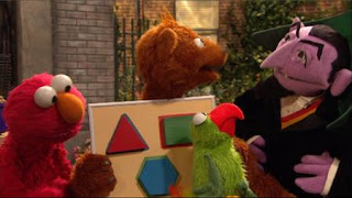 Baby Bear, parrot Ralphie, Elmo, The Count, Sesame Street Episode 4401 Telly gets Jealous season 44