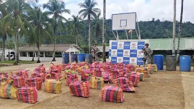 Armada de Colombia incauta más de una tonelada de alcaloide en Chocó