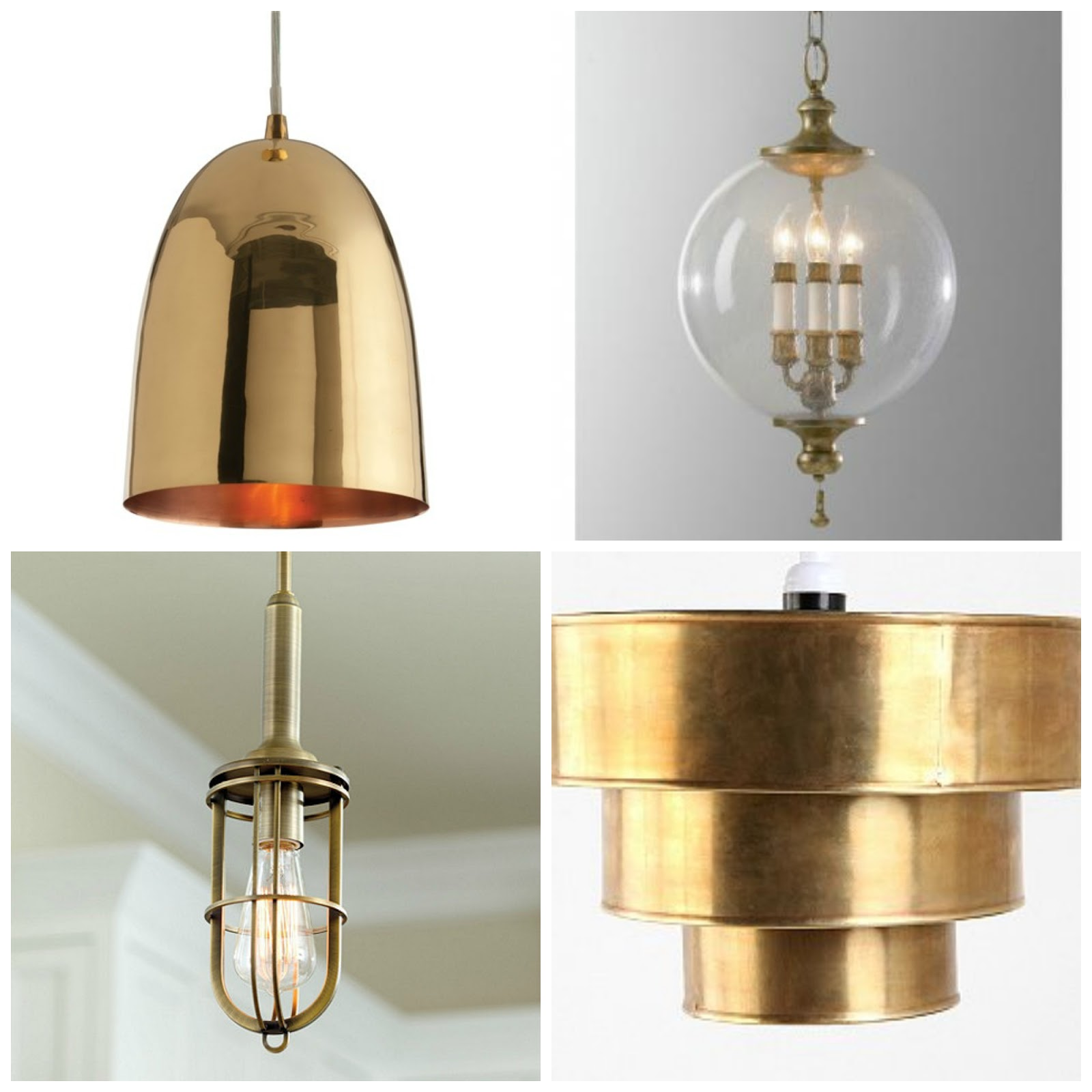 Bright Brass Dining Room Light Fixtures