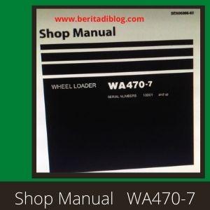 WA470-7 shop manual wheel loader komatsu