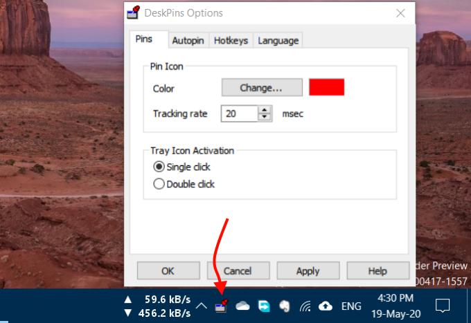 DeskPins pin any program window always on top