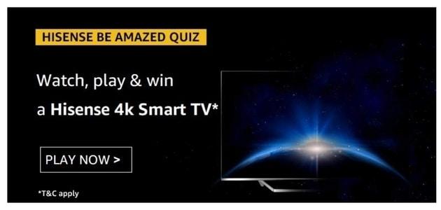 Hisense 4k Smart TV Quiz, Amazon Hisense 4k Smart TV Quiz Answer. Amazon Hisense 4k Smart TV Quiz Amazon Quiz Hisense 4k Smart TV Answers: Correct Answers Available: Hisense 4k Smart TV Quiz. As Shown In The Video, Hisense Operates In More Than ___ Countries.