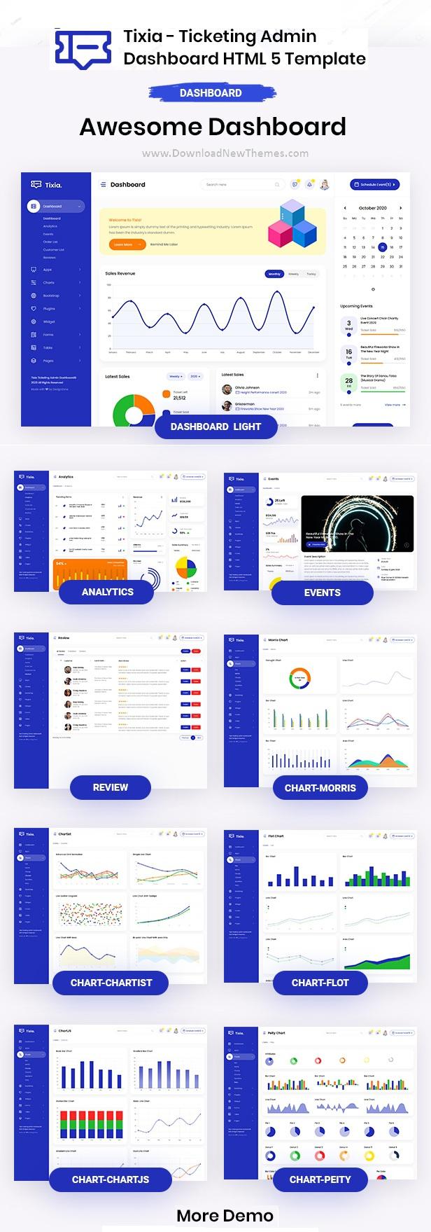 Ticketing Admin Dashboard Bootstrap HTML Template