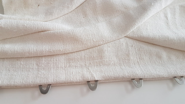 busk insertion of an edwardian white linen corset