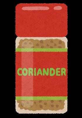 コリアンダーのイラスト(瓶)