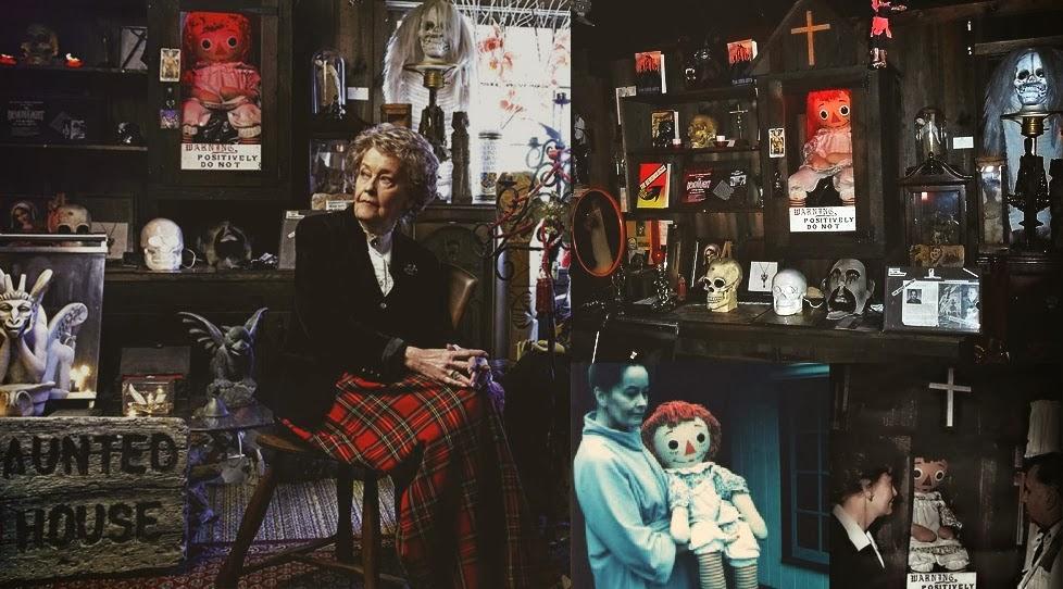 Lorraine Warren en el Museo Warren