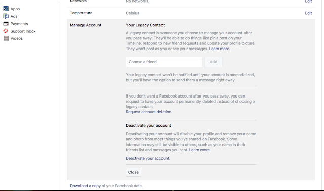 How to temporarily Deactivate Facebook Or Delete Account Now