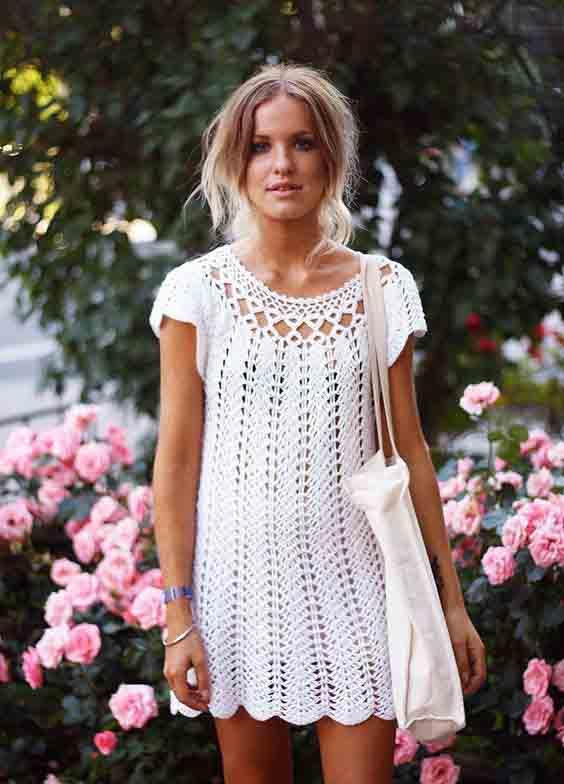 Inspirações de looks de verão em crochê