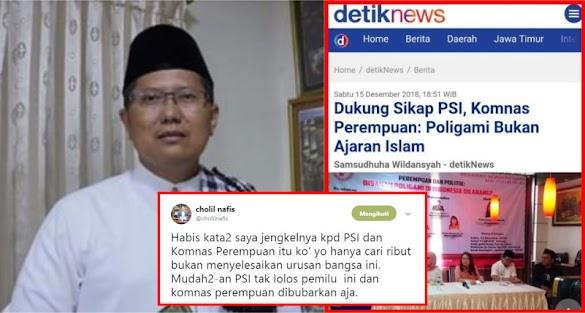 KH Cholil Nafis Jengkel ke PSI & Komnas Perempuan soal Poligami, Netizen Aminkan Do'a Sang Kiai