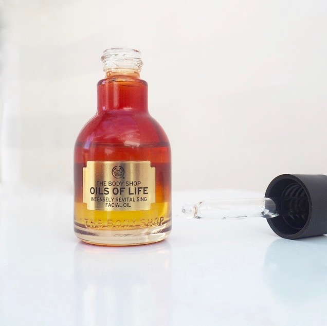 the body shop oils for life intensely revitalising facial oil