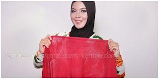 Hijab Tutorial : Cantik Mewah Berkerudung Merah