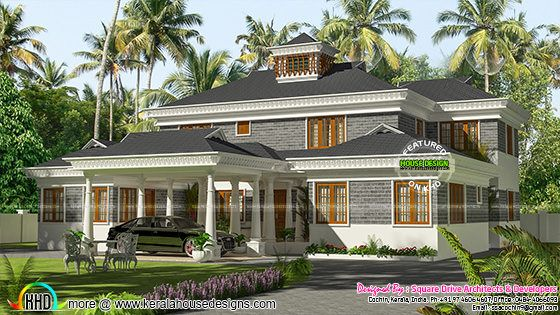Grand home elevation