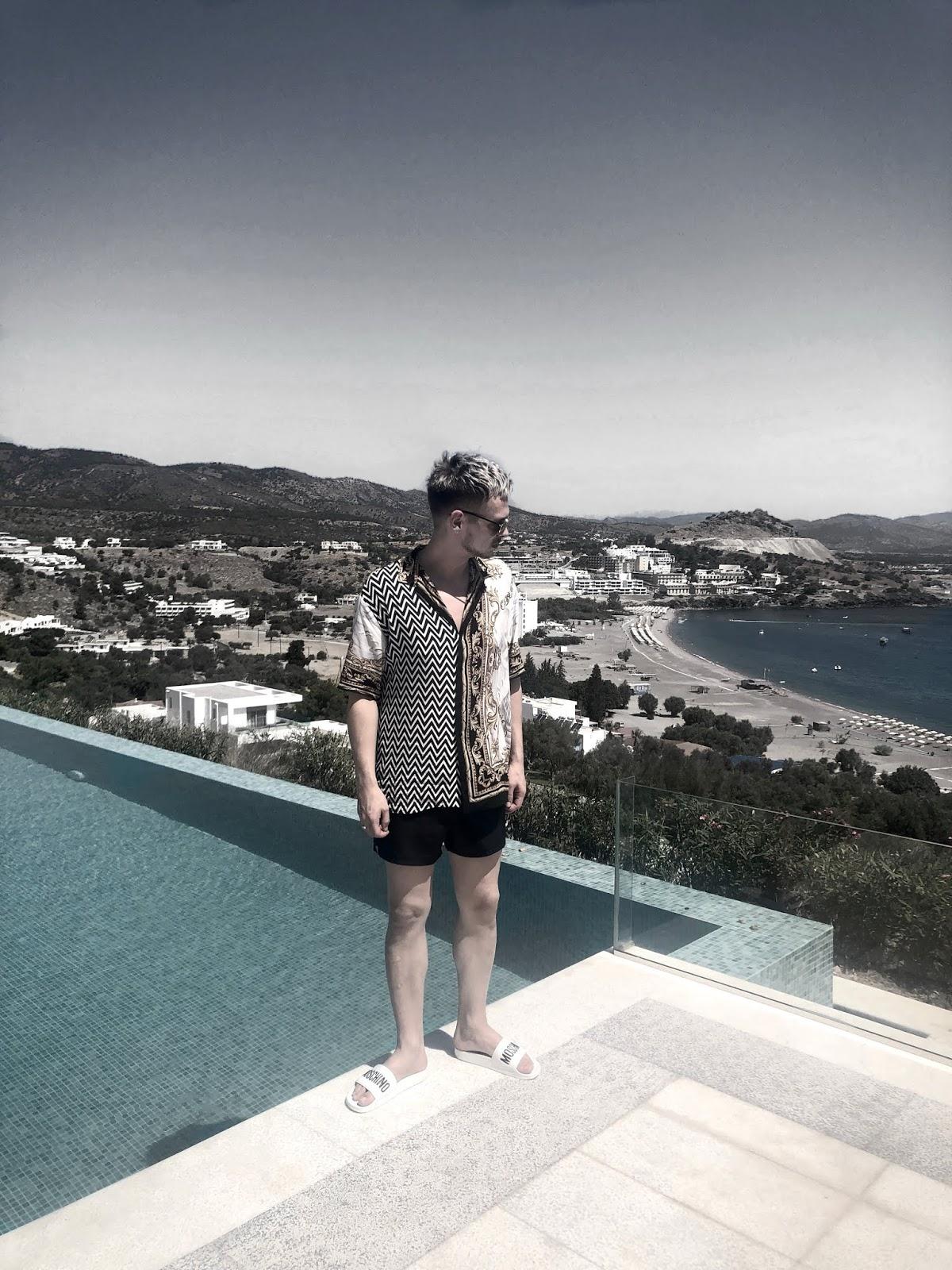 Greece mens street style pool zara Dior Moschino