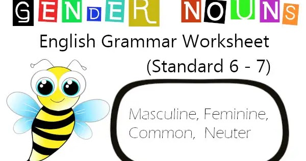 Cbse Papers Questions Answers Mcq Cbse Class 6 English Grammar Gender Nouns Worksheet Eduvictors Englishgrammar Cbse2020
