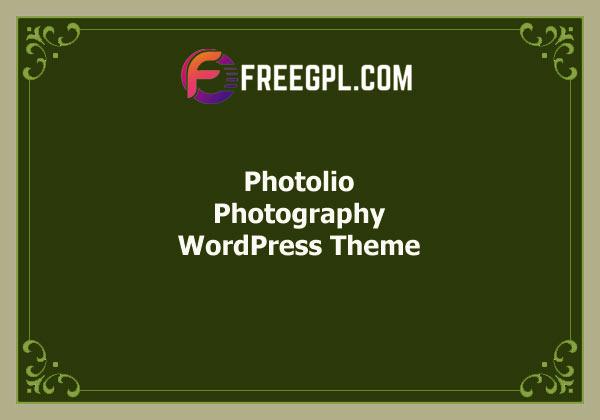 Photolio – Photography WordPress Theme Free Download