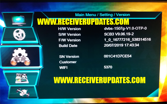1507G RECEIVER NEW SOFTWARE JULY 2019 TEN SPORTS OK - Receiver Updates