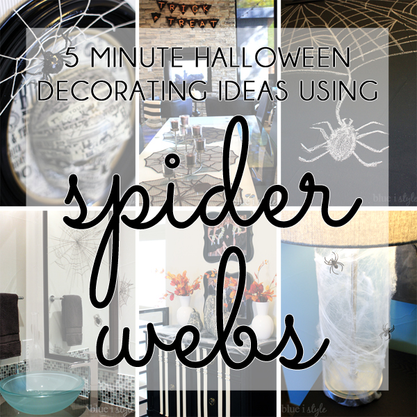 Five Minute Halloween Decorating with Spider Webs