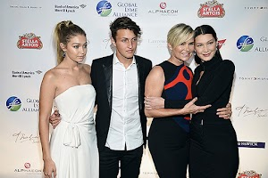 The family Hadid on the evening of the Lyme Alliance Global
