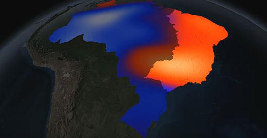 Mapa da água no Brasil