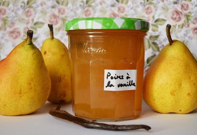 Confiture poires vanille