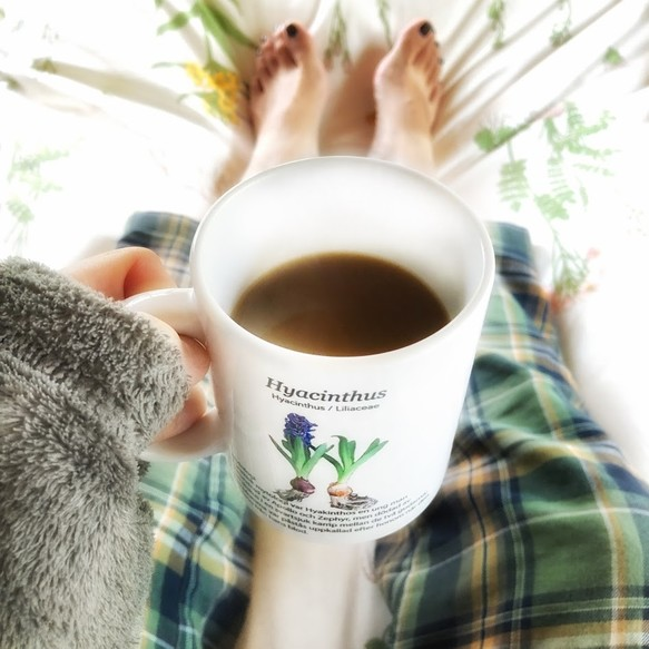 Have a coffee time on your bed by Hyacinth mug like a gardener's morning.