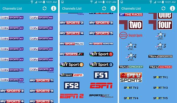 القنوات التى يوفرها تطبيق Show Sport TV