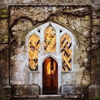 Photos of Ireland: Decorative door on the University College Cork (UCC) campus in Cork City