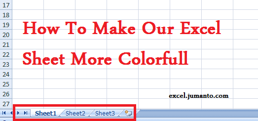 How To Change Sheet Tab Color In Excel And The Background