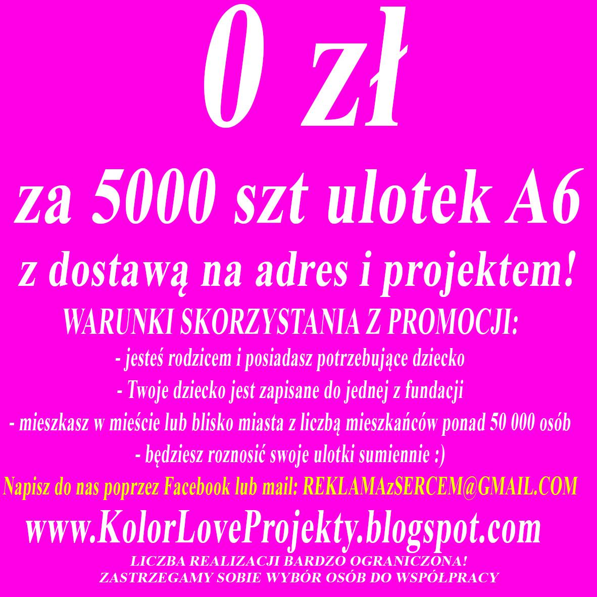 Tanie Ulotki Wizytówki Banery Plakaty Metki Projekty