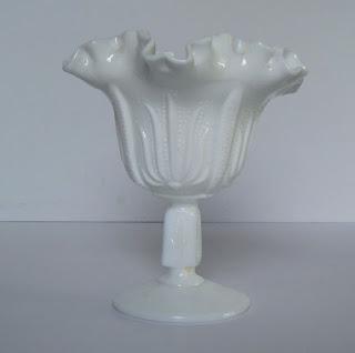 Milk Glass Dish Fenton Compote