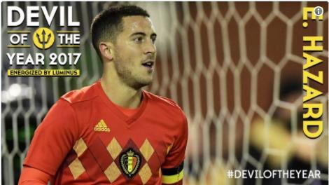 Eden Hazard Raih Gelar Pemain Terbaik Belgia 2017