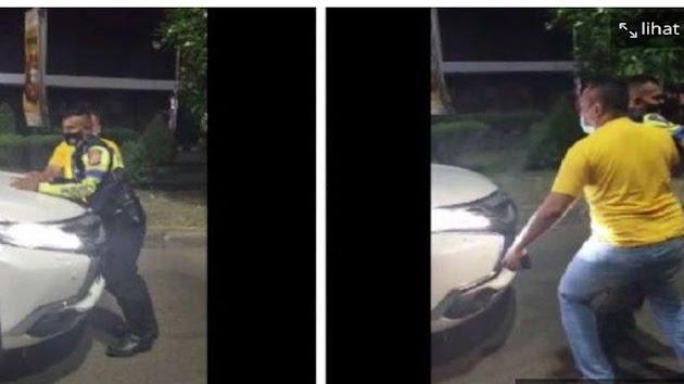 Video Sebuah Mobil yang Menerobos Pos Penyekatan Saat Diminta Putar Balik di Karawang, Viral di Media Sosial, Pria Badan Tegap yang Terobos Pos Penyekatan di Karawang Jawa Barat Akhirnya Minta Maaf ke Petugas Polisi