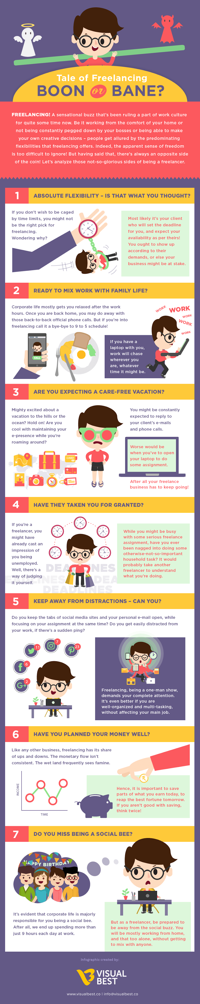 Tale of Freelancing: Boon or Bane? #infographic