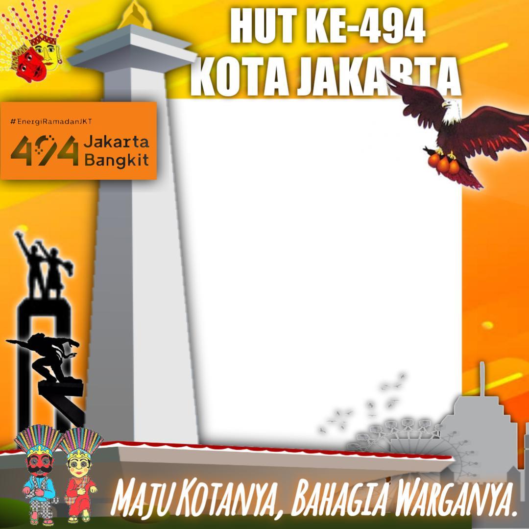 Desain Keren Twibbon HUT ke 494 Kota Jakarta Tahun 2021