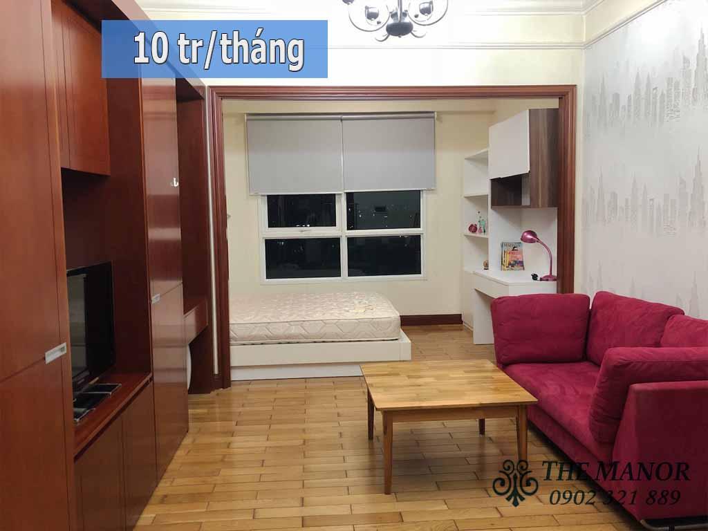 Cho thuê căn hộ diện tích nhỏ The Manor Q.Bình Thạnh giá rẻ 10tr/tháng