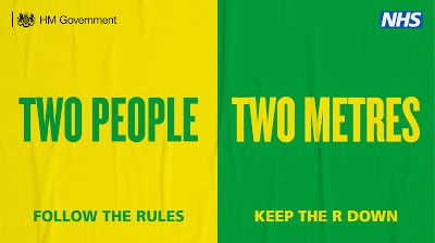 Two people, 2 metres apart UK Government advertising