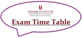Thapar University Exam Date Sheet 2020